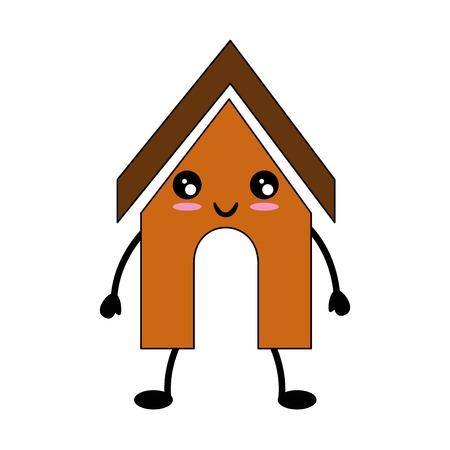 Perro casa icono sobre blanco backgorund ilustración vectorial Foto de archivo - 83295711