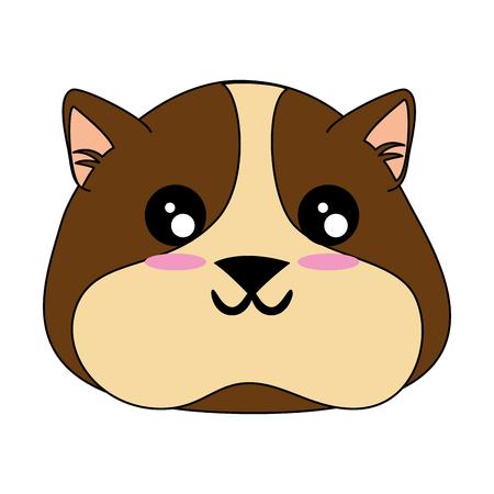 cartoon squirrel  face icon over white background colorful design vector illustration Ilustração