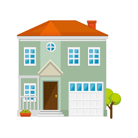 modern house icon over white background colorful design vector illustration 版權商用圖片 - 83304094