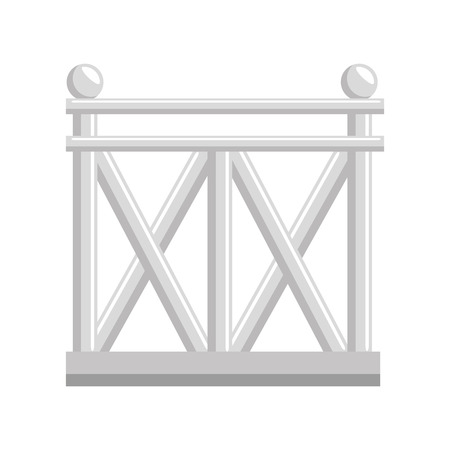 wooden fence icon over white background vector illustration Illustration