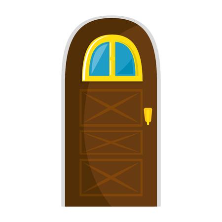 Huis deur icoon over witte achtergrond vector illustratie Stockfoto - 83304099