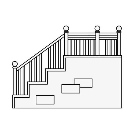 白背景ベクトル イラスト上の階段のアイコン