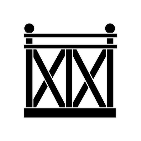 흰색 배경 벡터 일러스트 레이 션 위에 나무 울타리 아이콘