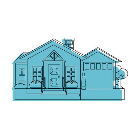 modern house icon over white background vector illustration Illusztráció