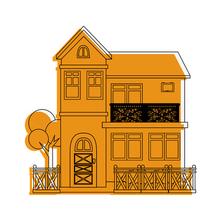 modern house icon over white background vector illustration Stock Photo