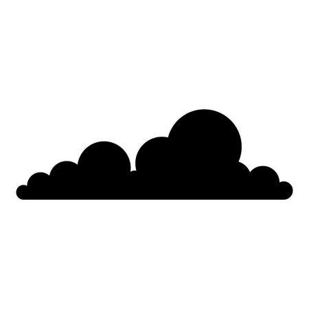 cloud icon over white background vector illustration