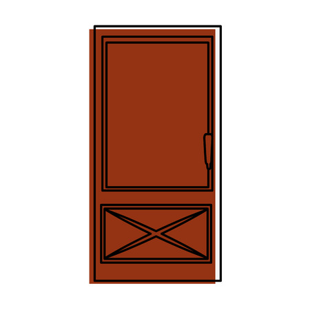 house door icon over white background vector illustration