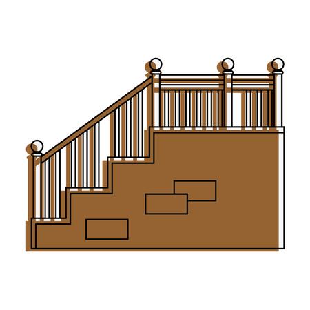 白背景ベクトル イラスト上の階段のアイコン 写真素材 - 83304453