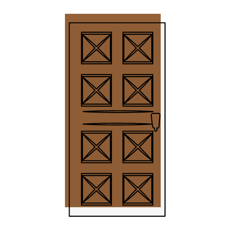 Huis deur icoon over witte achtergrond vector illustratie Stockfoto - 83304474