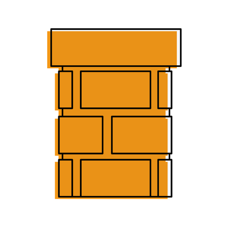 bricks pillard icon over white background vector illustration