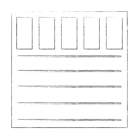 garage door icon over white background vector illustration