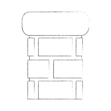 bricks pillard icon over white background vector illustration