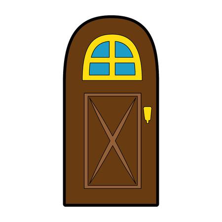 huis deur icoon over witte achtergrond vector illustratie