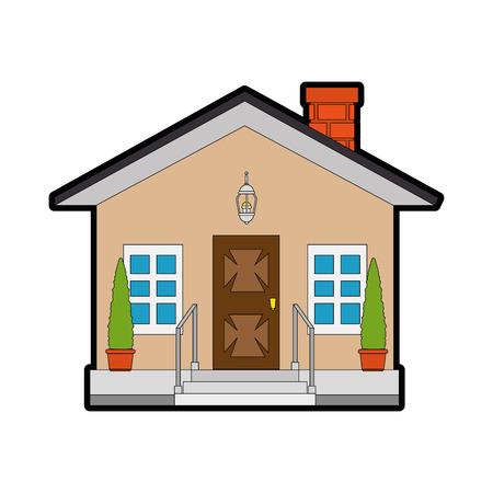 modern house icon over white background vector illustration Stock fotó