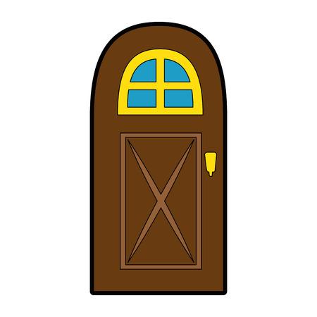 Huis deur icoon over witte achtergrond vector illustratie Stockfoto - 83304708