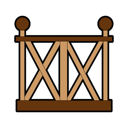 wooden fence icon over white background vector illustration Stock Photo