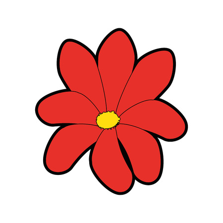 beautiful flower icon over white background colorful design vector illustration