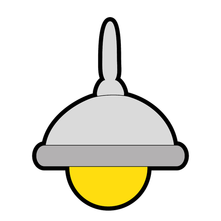 lamp icon over white background colorful design vector illustration