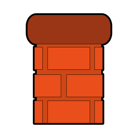 bricks pillard icon over white background vector illustration 版權商用圖片 - 83304718