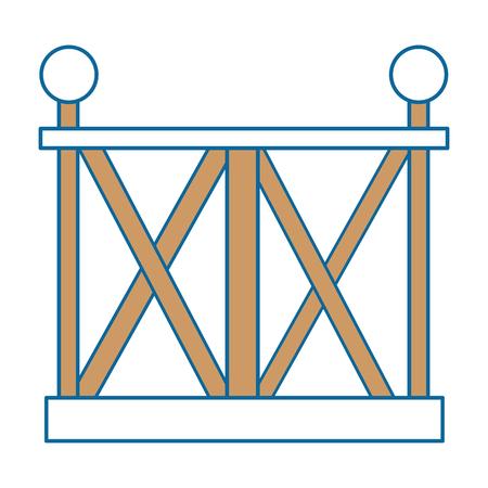 Icône de clôture en bois sur fond blanc illustration vectorielle Banque d'images - 83304757