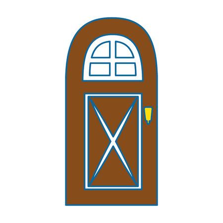 Huis deur icoon over witte achtergrond vector illustratie Stockfoto - 83304759