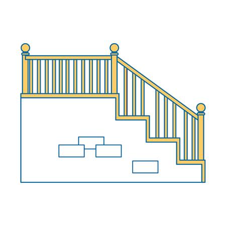 白背景ベクトル イラスト上の階段のアイコン 写真素材 - 83304785