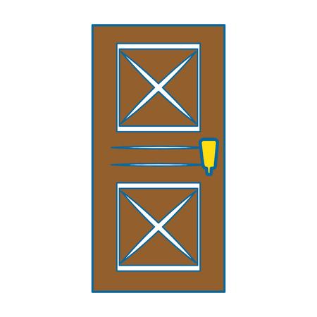 Huis deur icoon over witte achtergrond vector illustratie Stockfoto - 83304786