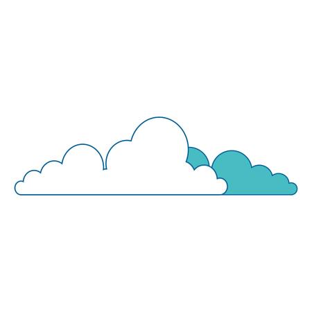 흰색 배경 벡터 일러스트 레이 션 위에 구름 아이콘 스톡 콘텐츠 - 83304794