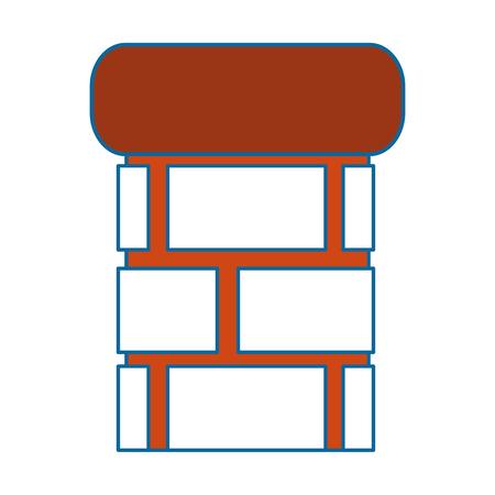 白い背景のベクトル図をレンガ pillard アイコン 写真素材