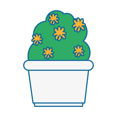 bush in a pot icon over white background colorful design  vector illustration Banco de Imagens