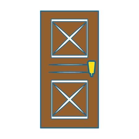 Icône de la porte de la maison sur fond blanc illustration vectorielle Banque d'images - 83304826