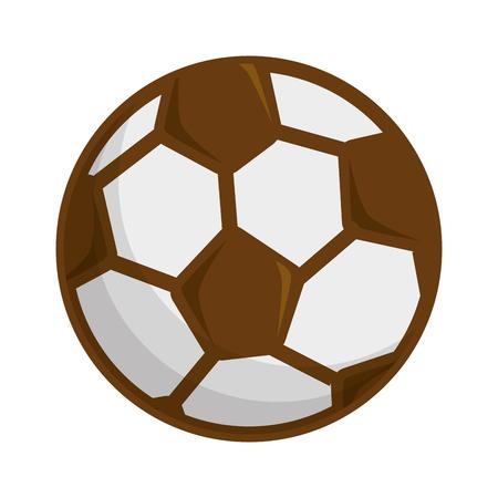 Soccer ball icon over white background vector illustration Çizim