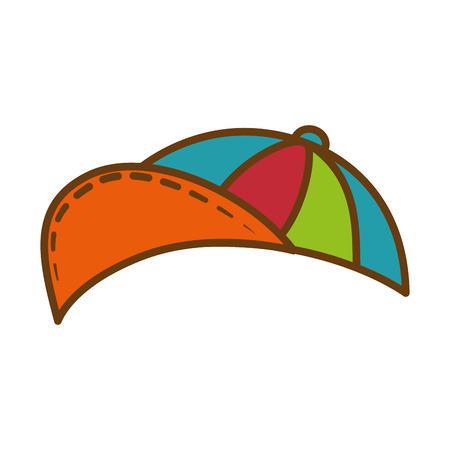 kid cap icon over white background vector illustration