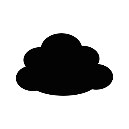 cloud icon over white background graphic design