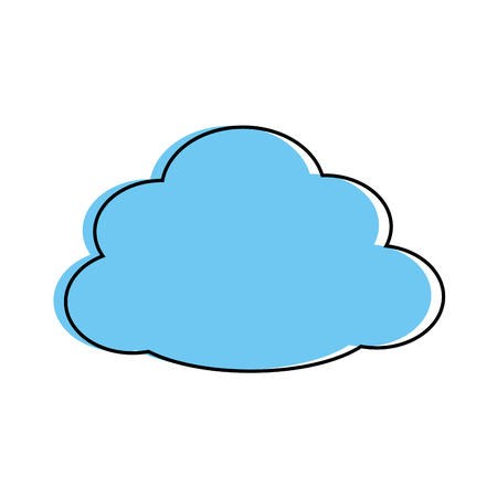 흰색 배경 위에 구름 아이콘 그래픽 디자인
