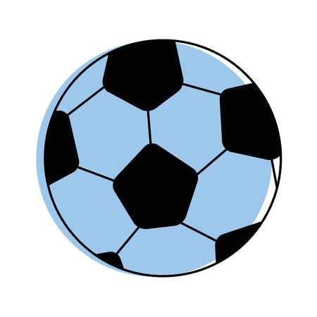 Soccer ball icon over white background vector illustration Фото со стока