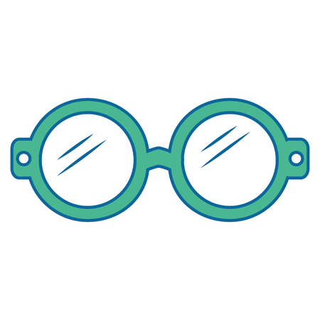 kid glasses icon over white background vector illustration