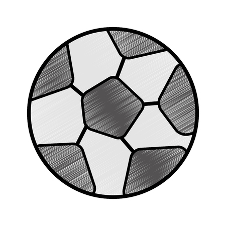 Soccer ball icon over white background vector illustration Ilustração