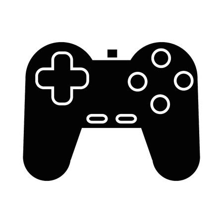 白背景ベクトル イラスト上のビデオゲーム コント ローラー アイコン