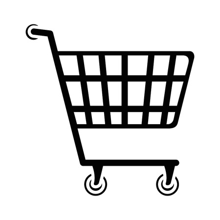 shopping cart icon over white background vector illustration