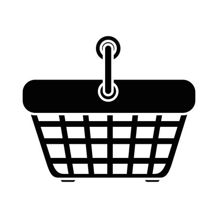 Winkelmandje pictogram op witte achtergrond vector illustratie
