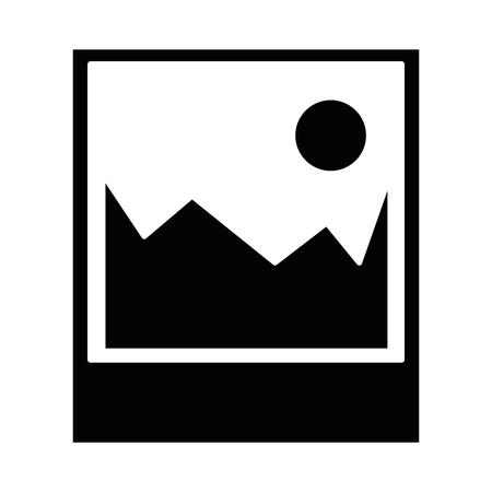 Bild-Symbol auf weißem Hintergrund Vektor-Illustration Standard-Bild - 83296111