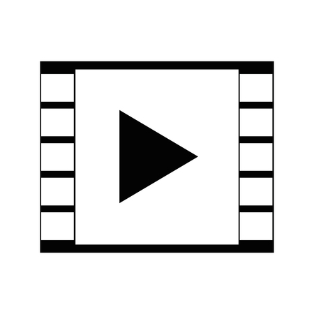video player icon over white background vector illustration Çizim