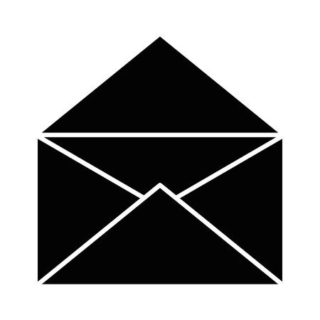 Envelop pictogram over witte achtergrond vector illustratie