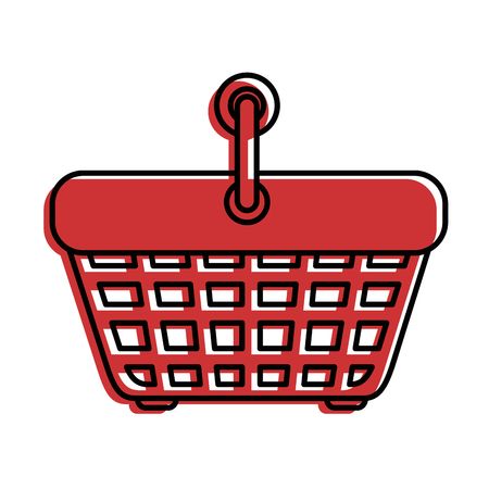 Shopping basket icon over white background vector illustration
