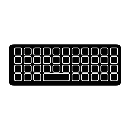 Keyboard icon over white background vector illustration