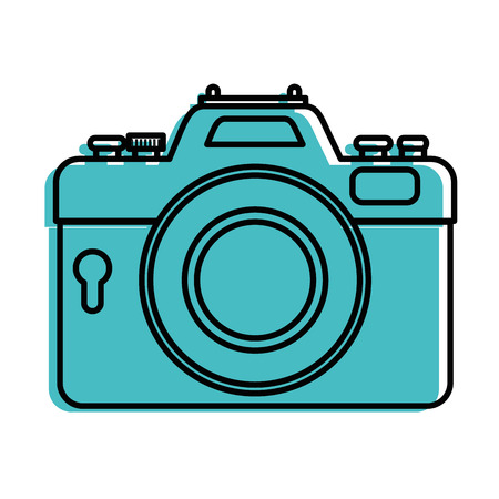 photographic camera icon over white background vector illustration Stock Vector - 83286136