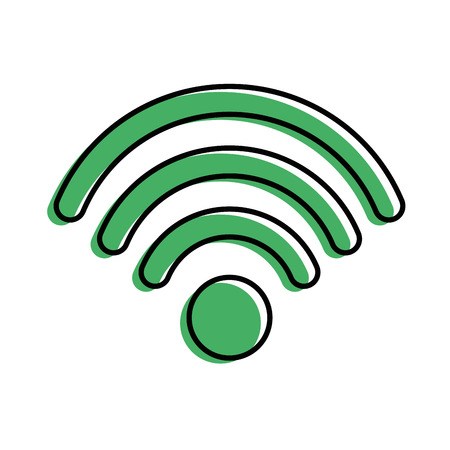 A WiFi sign icon over white background vector illustration Illustration