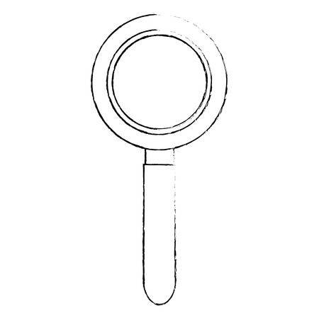 A magnifying glass icon over white background vector illustration