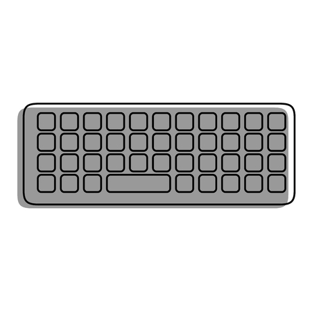 A keyboard icon over white background vector illustration.